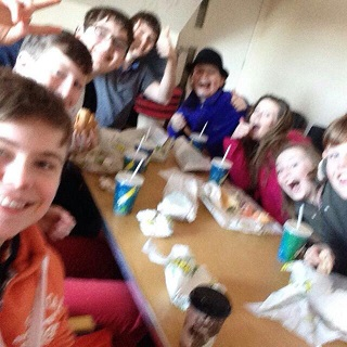 The Youth Group having a Subway Sunday